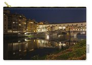 Florence Italy Night Magic - A Glamorous Evening At Ponte Vecchio Carry-all Pouch