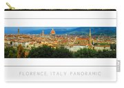 Florence, Italy Panoramic Poster Carry-all Pouch