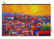 Florence Sunset 10 Modern Impressionist Abstract City Knife Oil Painting Ana Maria Edulescu Carry-all Pouch