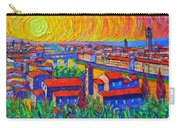 Florence Sunset 4 Modern Impressionist Abstract City Impasto Knife Oil Painting Ana Maria Edulescu Carry-all Pouch