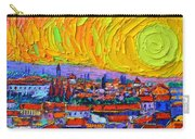 Florence Sunset 5 Modern Impressionist Abstract City Impasto Knife Oil Painting Ana Maria Edulescu Carry-all Pouch