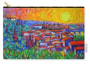 Florence Sunset 7 Modern Impressionist Abstract City Impasto Knife Oil Painting Ana Maria Edulescu Carry-all Pouch