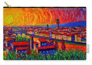 Florence Sunset 9 Modern Impressionist Abstract City Impasto Knife Oil Painting Ana Maria Edulescu Carry-all Pouch
