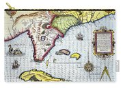 Florida: Map, 1591 Carry-all Pouch