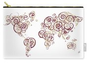 Florida State University Colors Swirl Map Of The World Atlas Carry-all Pouch