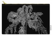 Florida Thatch Palm In Black And White Carry-all Pouch