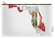 Florida Typographic Map Flag Carry-all Pouch