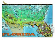 Florida Usa Cartoon Map Carry-all Pouch