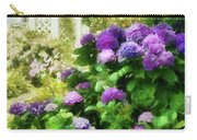 Flower - Hydrangea - Lovely Hydrangea  Carry-all Pouch by Mike Savad