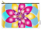 Flower 1317 - Abstract Art Print - Fantasy - Digital Art - Fine Art Print - Flower Print Carry-all Pouch