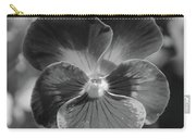 Flower 5 - Black And White Carry-all Pouch