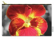 Flower 5 - Reverse Black And White Carry-all Pouch