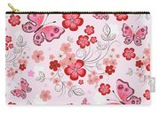 Flower And Butterfly Bj01 Carry-all Pouch