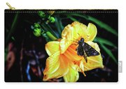 Flower And Butterfly Carry-all Pouch