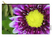 Flower And Droplets Carry-all Pouch