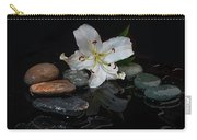 Flower And Stone Carry-all Pouch