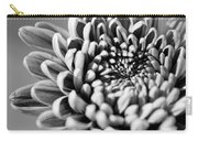 Flower Black And White Carry-all Pouch