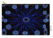 Flower Blue Carry-all Pouch