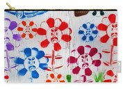 Flower Face Murial Carry-all Pouch