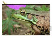Flower, Frog, Fly Carry-all Pouch