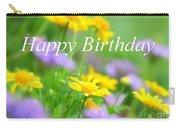 Flower Garden Birthday Card Carry-all Pouch