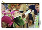 Flower Hmong Mother And Baby Carry-all Pouch
