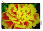 Flower In Abstract With Black Background Carry-all Pouch
