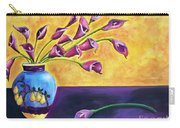 Flowers In Blue Vase Carry-all Pouch
