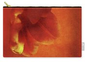 Flower In Red Carry-all Pouch