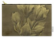Flower In Sepia Carry-all Pouch