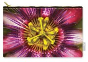 Flower - Intense Passion  Carry-all Pouch by Mike Savad