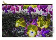 Flower Like Purple And Yellow Carry-all Pouch