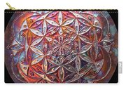 Flower Of Life Copper Lightmandala Carry-all Pouch