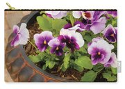 Flower - Pansy - Purple Pansies Carry-all Pouch