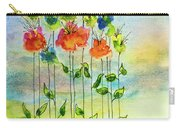 Flower Patch With Butterfly Carry-all Pouch
