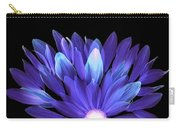 Flower Rise - Purple On Black Carry-all Pouch