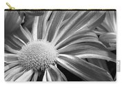 Flower Run Through It Black And White Carry-all Pouch