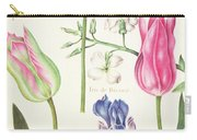 Flower Studies  Tulips And Blue Iris  Carry-all Pouch