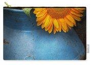 Flower - Sunflower - Little Blue Sunshine  Carry-all Pouch