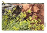 Flower Wood And Rock Carry-all Pouch