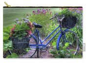 Flowered Bicycle Carry-all Pouch
