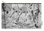 Flowered Mural B W Carry-all Pouch