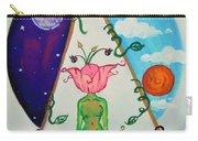 Flowered Out Carry-all Pouch