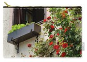 Flowered Window Carry-all Pouch