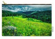 Flowering Colorado Mountain Meadow Carry-all Pouch