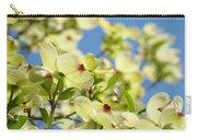 Flowering Dogwood Tree Art Print White Dogwood Flowers Blue Sky Art Carry-all Pouch