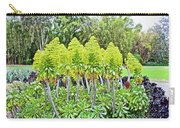 Flowering Green Aeonium In Huntington Desert Garden In San Marino-california Carry-all Pouch