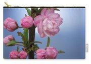 Flowering Pink On Blue Carry-all Pouch
