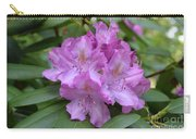 Flowering Pink Rhododendron Blossoms On A Bush Carry-all Pouch