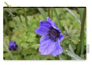 Flowering Purple Anemone Flower Blossom In A Garden Carry-all Pouch